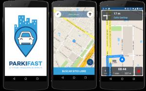 Capturas de pantalla de Parkifast, la mejor app para aparcar tu coche