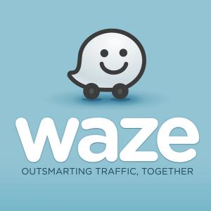 Logo waze detector de radares fijos y moviles